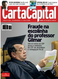 Segunda capa de Gilmar Mendes em duas semanas: ministro do STF retratado em polêmicas às vésperas do julgamento do mensalão