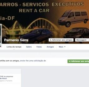 Página pessoal do empresário que aluga veículos de luxo a, pelo menos, 23 deputados entre 2012 e 2013.