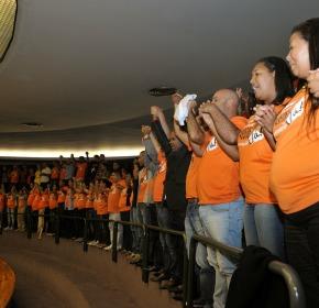 Agentes de saúde e de endemias lotaram a galeria da Câmara pelo piso salarial