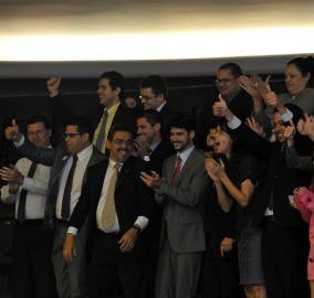 Advogados públicos comemoraram a decisão nas galerias do plenário