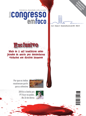 Capa da revista que trouxe o mapeamento dos brasileiros ameaçados de morte