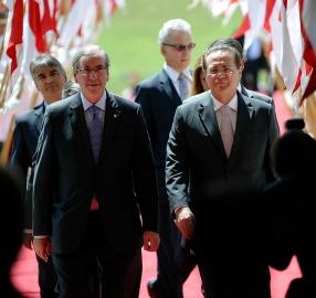 Eduardo Cunha e Renan Calheiros na abertura do ano legislativo em 2 de fevereiro