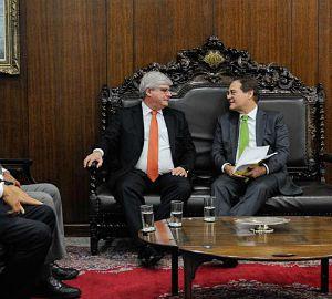 Janot e Renan, em setembro de 2014, seis meses antes de o senador virar alvo da Lava Jato