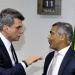 Jucá com o presidente da CPI, Romário: sem indiciamento, mas com inovação