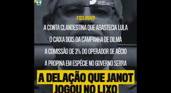 Revista expõe na mesma capa denúncias sobre dois caciques petistas e dois tucanos. E Janot como pano de fundo
