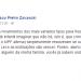 Mensagem foi publicada pelo advogado Francisco Zavascki, filho de Teori, no Facebook