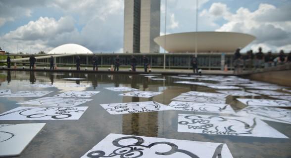 Em Brasília, políticos foram comparados a ratos em manifestação do dia 4 de dezembro