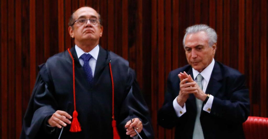 TEMER INVESTIGADO NO TSE, INDICA PRIMO DE GILMAR MENDES, PRESIDENTE DO TSE