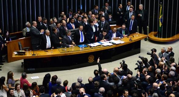 Maia, no momento em que teve anunciada sua reeleição à presidência da Câmara