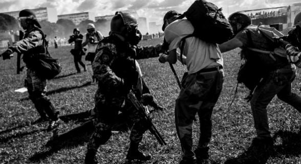 Manifestação em Brasília teve confronto entre polícia e manifestantes