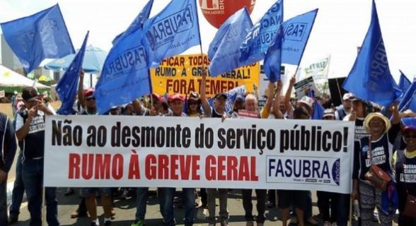 Sindicais prometem greve geral de serviços públicos nos próximos dias