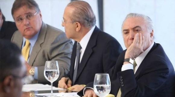Geddel, a exemplo de Eliseu Padilha (ao centro), é um dos homens de confiança de Temer