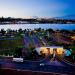 Vista aérea do Pontão do Lago Sul: gastronomia à beira-lago