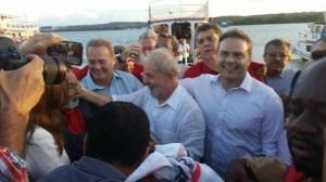 Lula em Alagoas, onde os Calheiros mantêm as rédeas da política estadual
