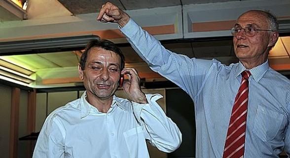 Battisti e Suplicy em 2010, quando Lula concedeu asilo ao ex-ativista e evitou sua extradição para a Itália