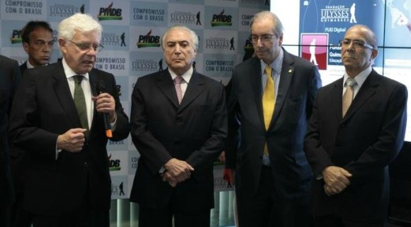 Moreira Franco, Temer, Cunha e Eliseu Padilha são quatro dos principais peemedebistas citados na recomendação do MPF
