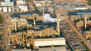 Vista aérea de uma das refinarias da Petrobras