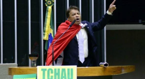 Confetes: Wladimir, em abril de 2016, no dia em que votou pelo impeachment de Dilma