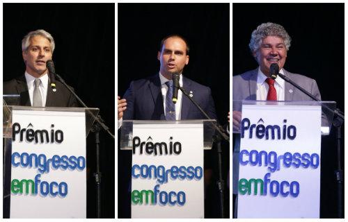 Molon, Eduardo Bolsonaro e Chico Alencar foram os mais votados, respectivamente, pelo júri, pelo voto popular e pelos jornalistas. Todos do Rio de Janeiro