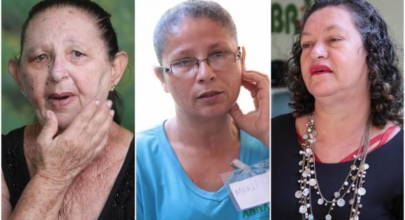 Maria, Marli e Cármen: unidas nas dores da doença e no sofrimento para serem atendidas