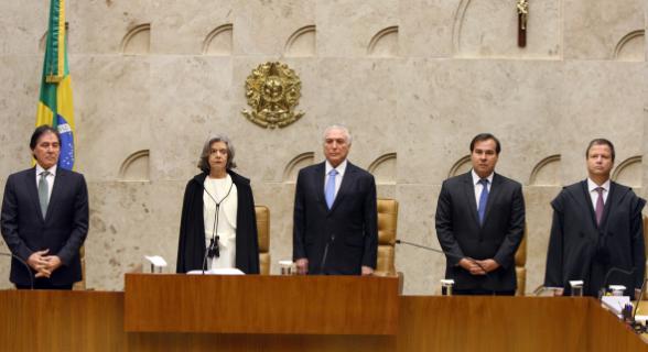 A sessão solene de abertura do ano Judiciário foi realizada na manhã desta quinta-feira (1º), no STF