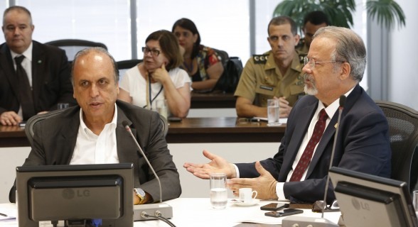 Pezão e o ministro da Defesa, Raul Jungmann
