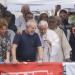 Lula acompanha a celebração, que começou por volta das 10h40, no Sindicato dos Metalúrgicos