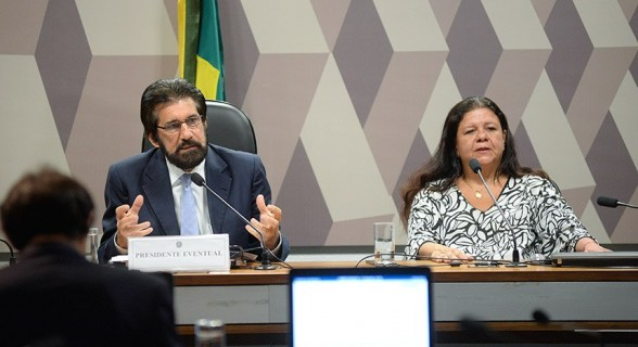 Senador Valdir Raupp (MDB-RO) e deputada Laura Carneiro (DEM-RJ) foram eleitos presidente e relatora da MP