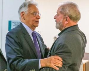 FHC prestou solidariedade a Lula por ocasião da morte de Dona Marisa Letícia, em fevereiro de 2017