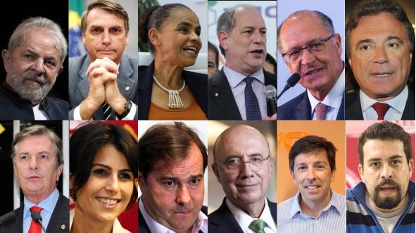 Resultado de imagem para 13 candidatos à Presidência da República