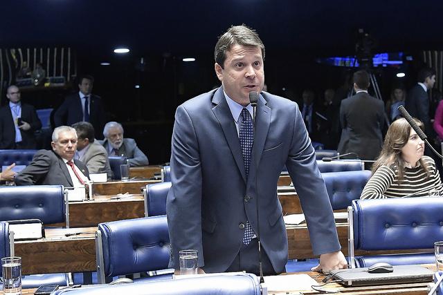 Reguffe defende projeto em plenário