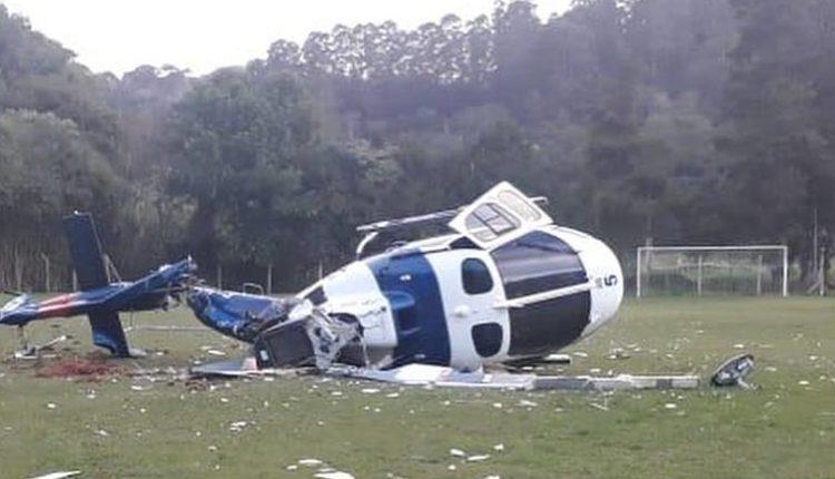 Queda de helicóptero com governador Paulo Hartung.