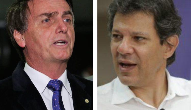 Datafolha mostra Bolsonaro e Haddad no segundo turno