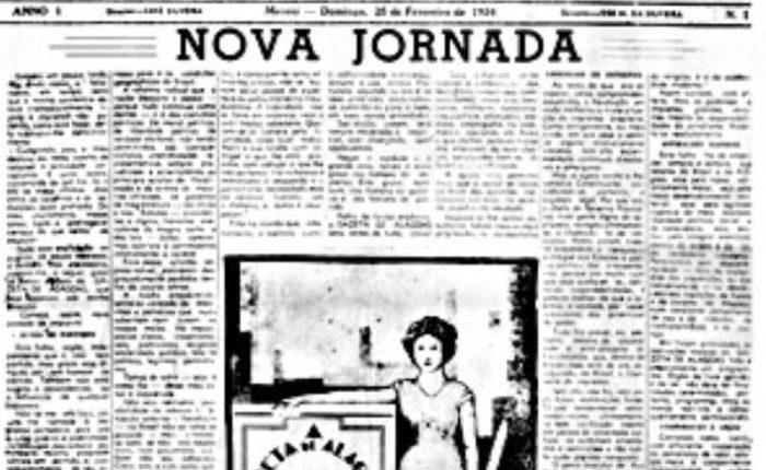 Jornal. Primeira capa do jornal, de 1934