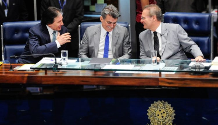 Senado. Os emedebistas Eunício, Jucá e Renan, três das principais lideranças do Senado, podem ser beneficiados com alteração na Lei da Ficha Limpa