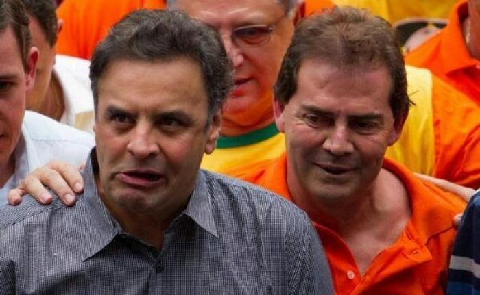 """Aécio e Paulinho em campanha: para Marco Aurélio, """"indícios de relação ilícita"""""""