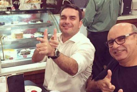 Flávio Bolsonaro e Fabrício Queiroz
