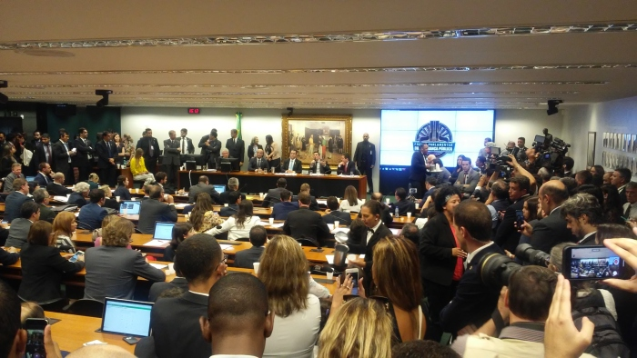 Ida de Moro à Câmara lotou sala de comissão temática, mas imprensa não pôde transmitir debate