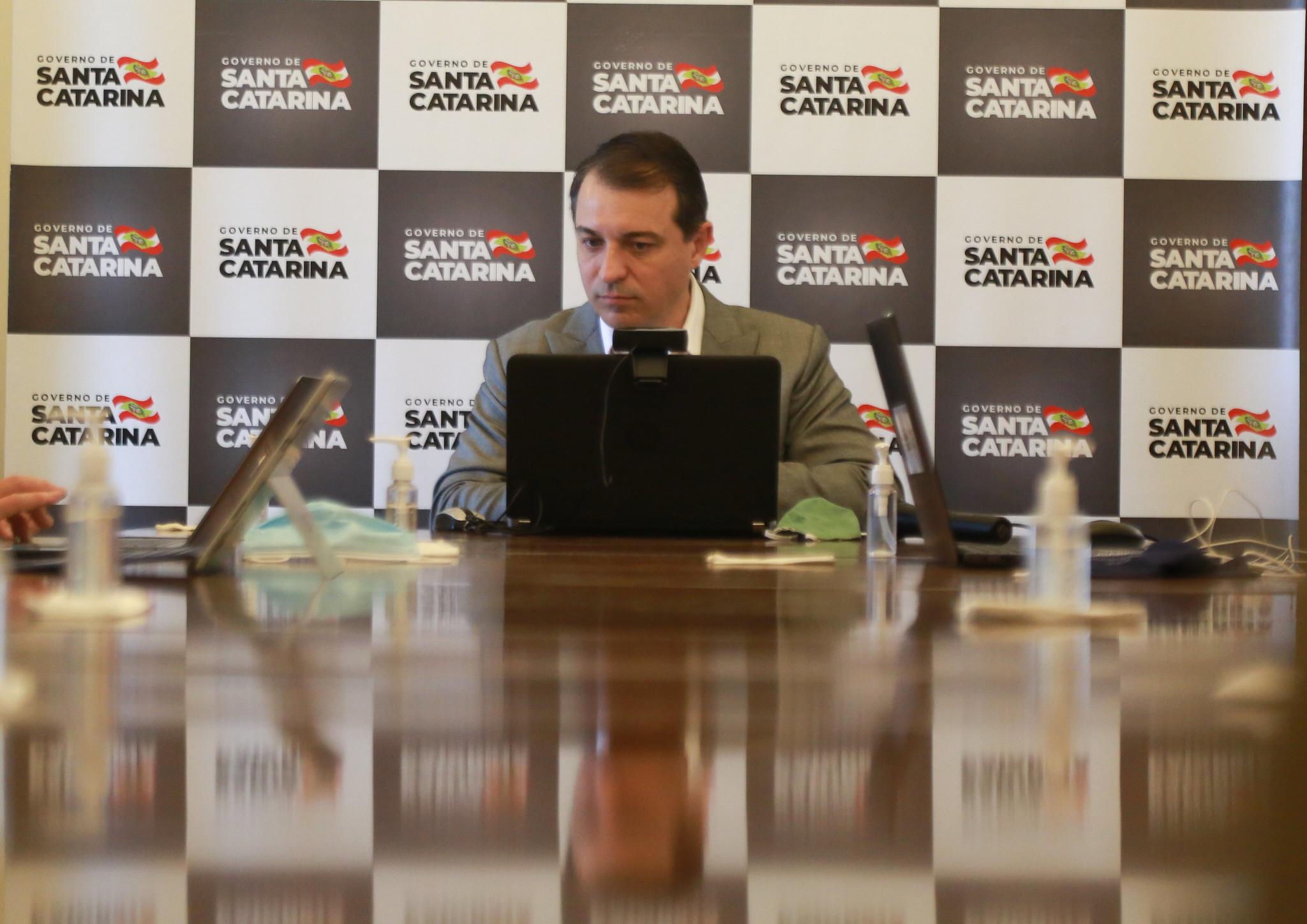 Carlos Moisés, governador de Santa Catarina. [fotografo]Julio Cavalheiro/Secom[/fotografo]
