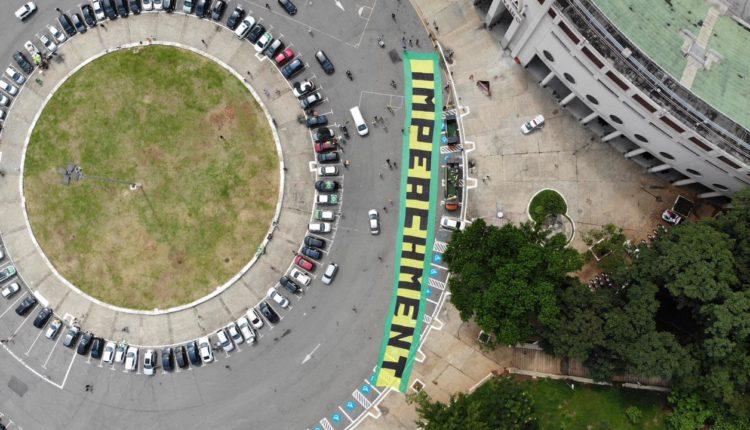 Ato pelo impeachment de Bolsonaro em SP. [fotografo] Divulgação/MBL [/fotografo]