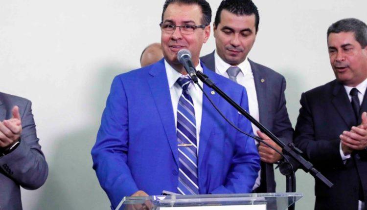 """Abertura da Exposição """"Polícia Militar"""". Dep. Capitão Augusto (PL - SP) [fotografo]Luis Macedo/Câmara dos Deputados[/fotografo]"""