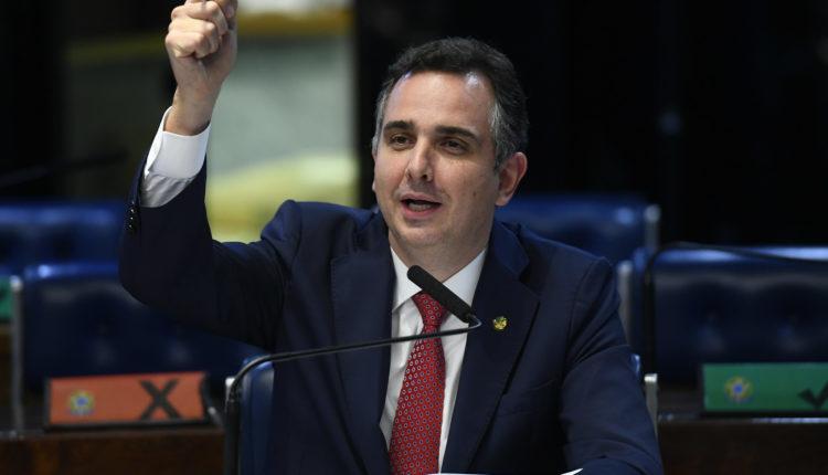 Presidente do Senado, Rodrigo Pacheco, em sessão da Casa [fotografo]Marcos Oliveira/Agência Senado[/fotografo]