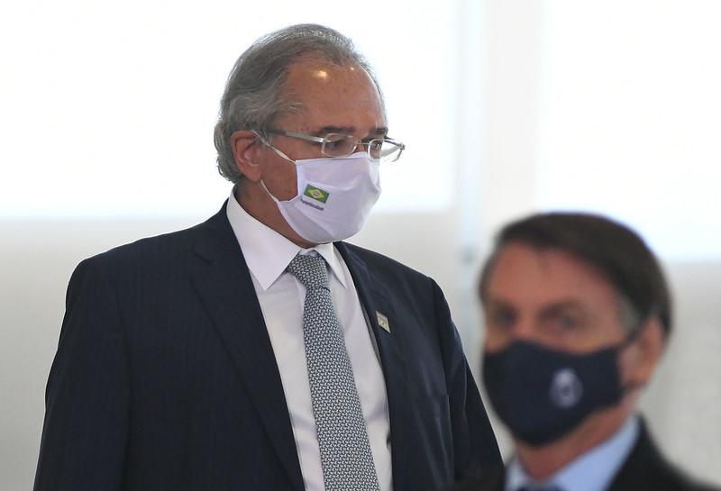 """Bolsonaro e seu """"posto Ipiranga"""", cada vez mais desprestigiado<div class='fotografo'>Edu Andrade/Ministério da Economia</div>"""