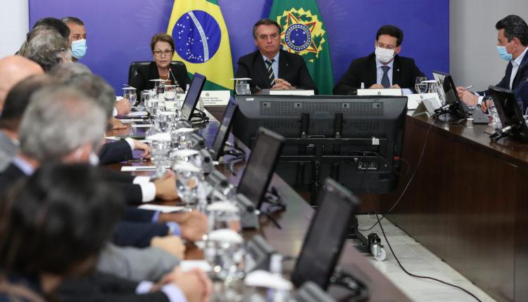 Salários (Brasília - DF, 12/05/2021) Reunião com Tereza Cristina, Ministra de Estado da Agricultura, Pecuária e Abastecimento; e João Roma, Ministro de Estado da Cidadania. Foto: Marcos Corrêa/PR