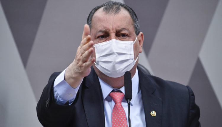 O presidente da CPI da Covid, senador Omar Aziz (PSD-AM) [fotografo] Leopoldo Silva/Agência Senado[/fotografo]