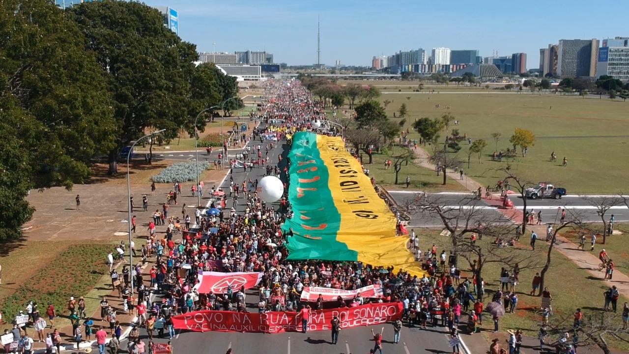 Manifestação contra Bolsonaro em Brasília [fotografo] Tiago Rodrigues [/fotografo]