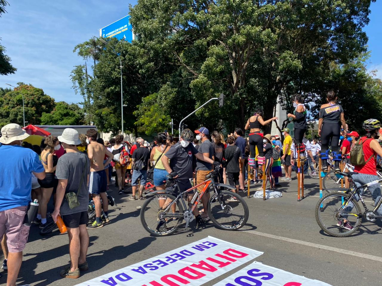 Manifestação contra Bolsonaro em Brasília [fotografo] Congresso em Foco [/fotografo]