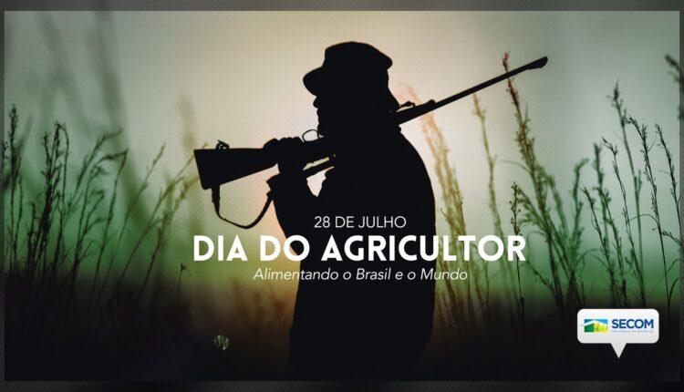 Secom celebra dia do agricultor com imagem de homem armado {fotografo] Reprodução Twitter Secom [/fotografo]