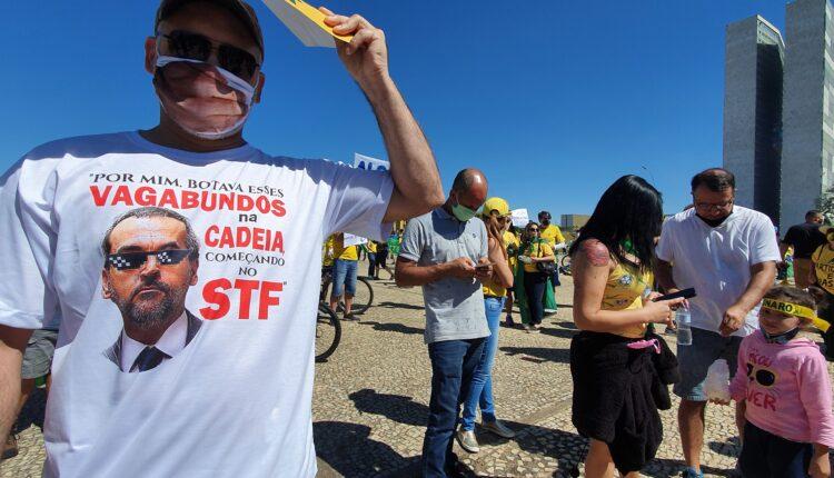 Atos antidemocráticos/ Manifestação contra o STF e em favor de Jair Bolsonaro, no mÊs de maio de 2020 [fotografo]Guilherme Mendes/Congresso em Foco[/fotografo]